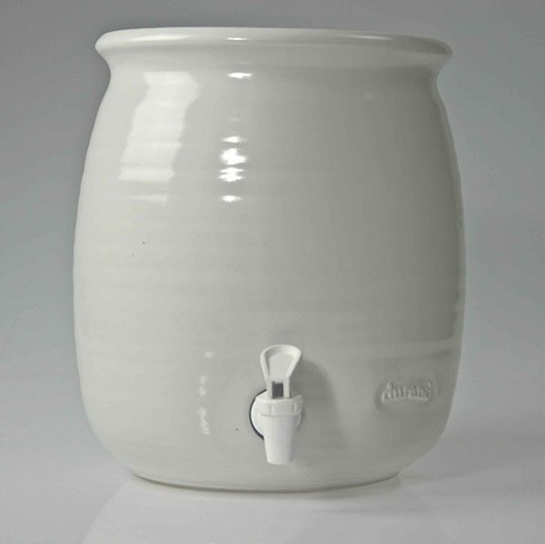 Kombucha Pot 5 litre Gloss White